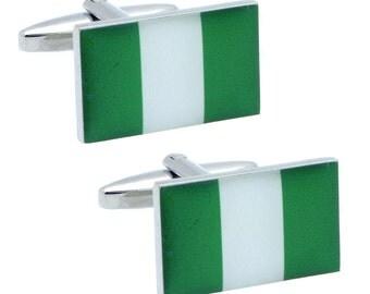 Nigeria Flag Cufflinks