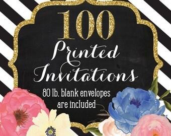 Invitation Printing - Set of 100 - 5x7