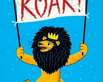 ROAR! - Lion - Childrens Art - Nursery Decor - Nursery Art - Limited Edition Wall Art Poster Print - iOTA iLLUSTRATiON
