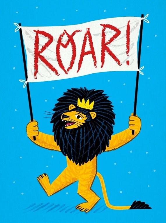 ROAR! - Lion - Childrens Art - Nursery Decor - Nursery Art - Limited Edition Wall Art Poster Print - iOTA iLLUSTRATiON