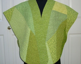 Lime Cooler--Quilted Cape