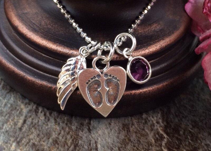 Baby memorial necklace memorial jewelry memorial necklace for Baby jewelry near me