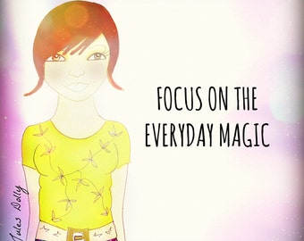 Muse Mantra Notecard - 'Focus on the Everyday Magic'