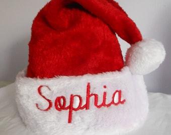 Personalized Santa Christmas Hat