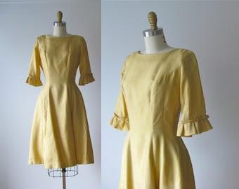 SALE vintage 1950s dress / 50s dress / My Little Buttercup