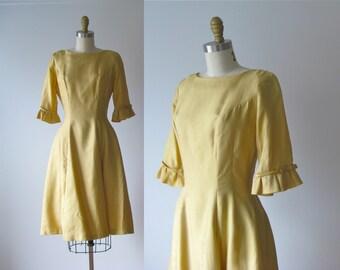 vintage 1950s dress / 50s dress / My Little Buttercup