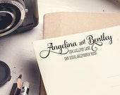 """Return Address Stamp - 3"""" x 1.5"""" - Address Stamp - Angelina 2"""