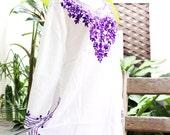 Bohemian Embroidered Long Blouse/Shirt/Tunic - SSS1501-2