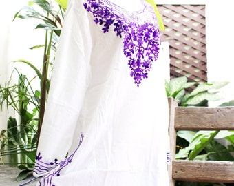 Bohemian Embroidered Long Blouse/Shirt/Tunic - SSS1501-2