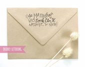 Custom Hand Lettered Return Address Wooden Stamp {Quirky}