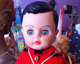 Vintage 1960s Canadian Mountie doll Dee an Cee