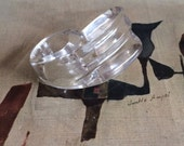 Vintage 1980s Patricia Von Musulin Style Lucite Ring size 7