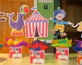 Circus Centerpieces custom order for Jessica Ayars