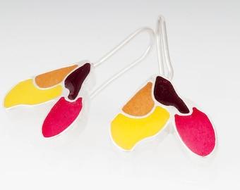 Resinate Sterling Silver Maple Earrings