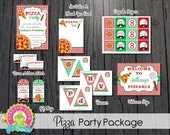 Pizza Party Package / Pizza Birthday Package / Pizza Party / Pizza Invitation / Pizza Party Invite / Pizza Printables
