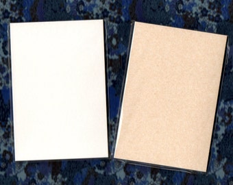 Blank Hon-gasenshi Postcards for Etegami use (choose between bright white and soft brown)