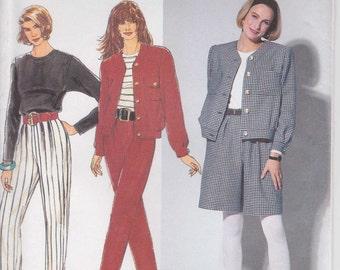 Pants Pattern Dress Shorts Jacket Misses Size 12 - 16 Uncut 1991 Simplicity 7575