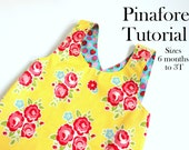 Baby Dress Tutorial,  Crossover Reversible Pinafore Dress Tutorial, Instant Download PDF Pattern, Dress Sewing Pattern With Instructions