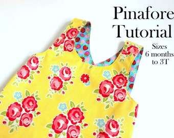 Tutorial for Crossover Reversible Dress | Instant Download PDF Pattern | Sewing Pattern With Instructions | Sew Your Own | Child's Pinafore