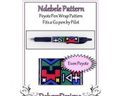 Bead Pattern Peyote(Pen Wrap/Cover)-Ndebele Pattern