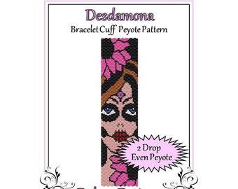 Bead Pattern Peyote(Bracelet Cuff)-Desdamona