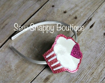 Cupcake Headband - For the Birthday Girl! - Girls or Toddler
