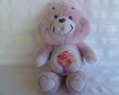 "Vintage Care Bear ""Share Bear"" Plush 1980's"