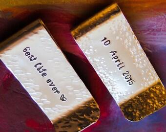Money Clip - Hand Stamped Metal Money Clip, Custom Money Clip, Personalized Money Clip, Customized Money Clip, Groomsmen Gift, Wedding Gift