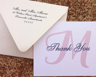Monogram Thank You Cards