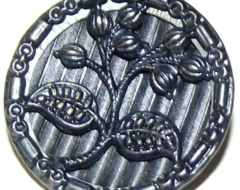 Antique Button Lovely Tinted Metal