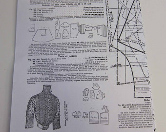 Antique, Vintage, Original Ads, Fashions, Sewing Patterns, Illustrations, etc., circa 1905-1908