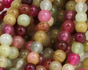 "Rainbow Soocho ""Jade"" Serpentine Beads - 6mm Round - Limited Quantity"