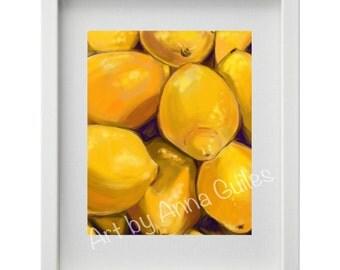 Lemons Painting - Digital Download Art