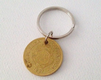 Upcycled Repurposed Coin Keychain