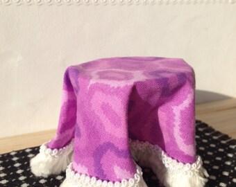Miniature dollhouse size draped table