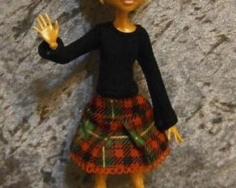 top and skirt set for Monster dolls
