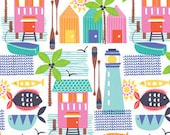 Blend Fabrics, Sunsational, Wish You Were Here in White, Maude Asbury, One Yard