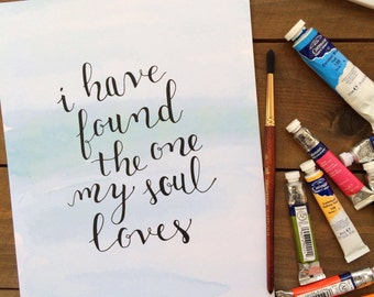 I Have Found the One My Soul Loves Printable Art Print