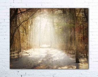 Chasing Your Memory - PHOTO, winter photography, enchanted forest, winter forest, winter landscape, nature photography, rustic decor