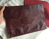 Authentic Vintage Cartier Leather Envelope Clutch
