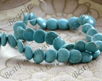 Single14mm turquoise nugget gemstone beads,Turquoise nugget jewelry, Gemstone Bead loose strands,turquoise beads