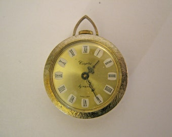 Vintage Ladies 1970s Pendant Watch Capris by Mepa Swiss Made Non-Working Decorative Back for Parts Repair Steam Punk Jewelry