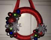 Just Reduced- Christmas Balls Decorated Wreath