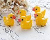 10pcs  Kawaii Cute Plump Duck Deco Cabochons Resin Cabochon --(CAB-BQC)