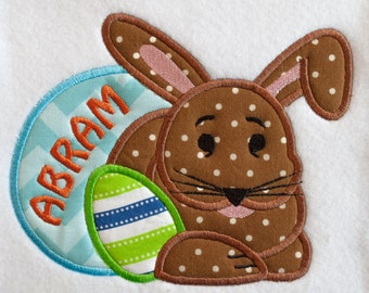 Personalized Easter Bunny with Eggs Shirt or Bodysuit