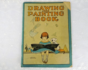 Children's Book Vintage Drawing and Painting Book McLoughlin Bros. Inc