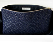 MAX Clutch - Navy and Gold