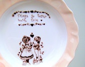 Things Go Better With Love vintage bone china plate England