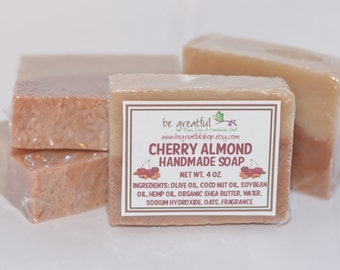Cherry Almond Cold Process Soap Bar