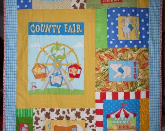 Farm Baby Quilt and Pillowcase